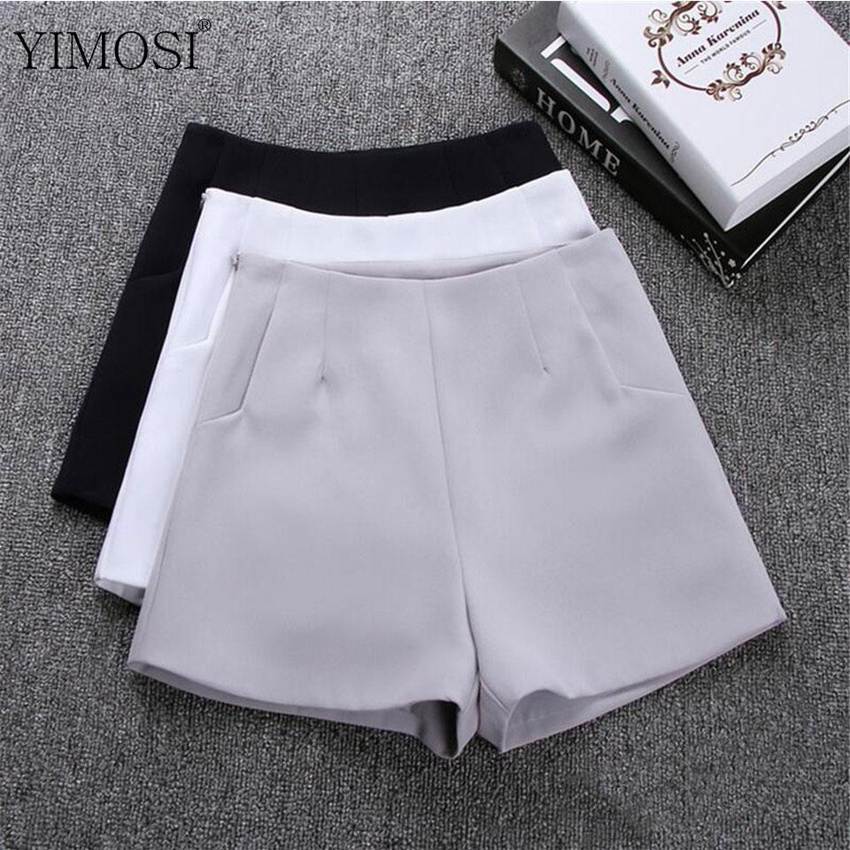 Novedad de 2020, pantalones cortos de verano para mujer, faldas, pantalones cortos informales de cintura alta, pantalones cortos blancos y negros para mujer, pantalones cortos modernos para mujer