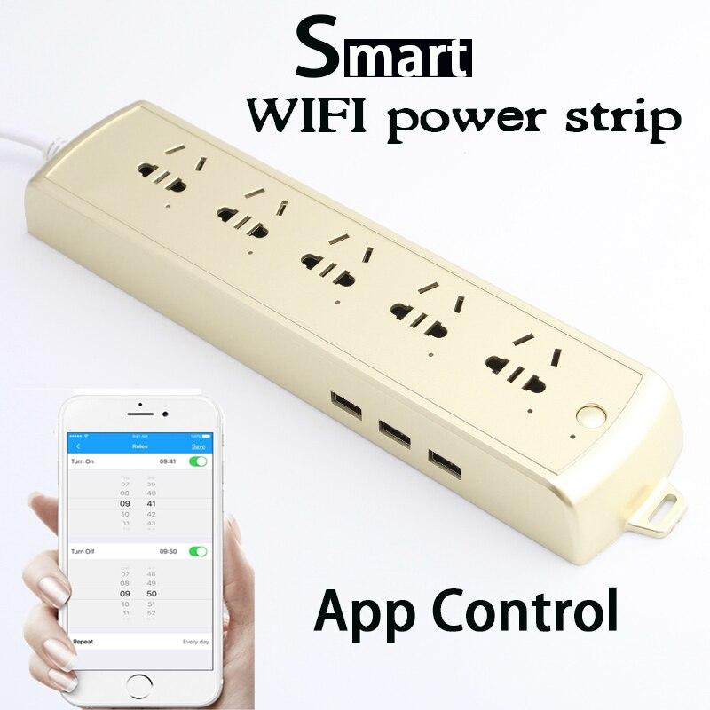 Nueva tira de potencia inteligente, enchufe WiFi, accesorios para acuario, temporizador, Control remoto con 5 salidas USB