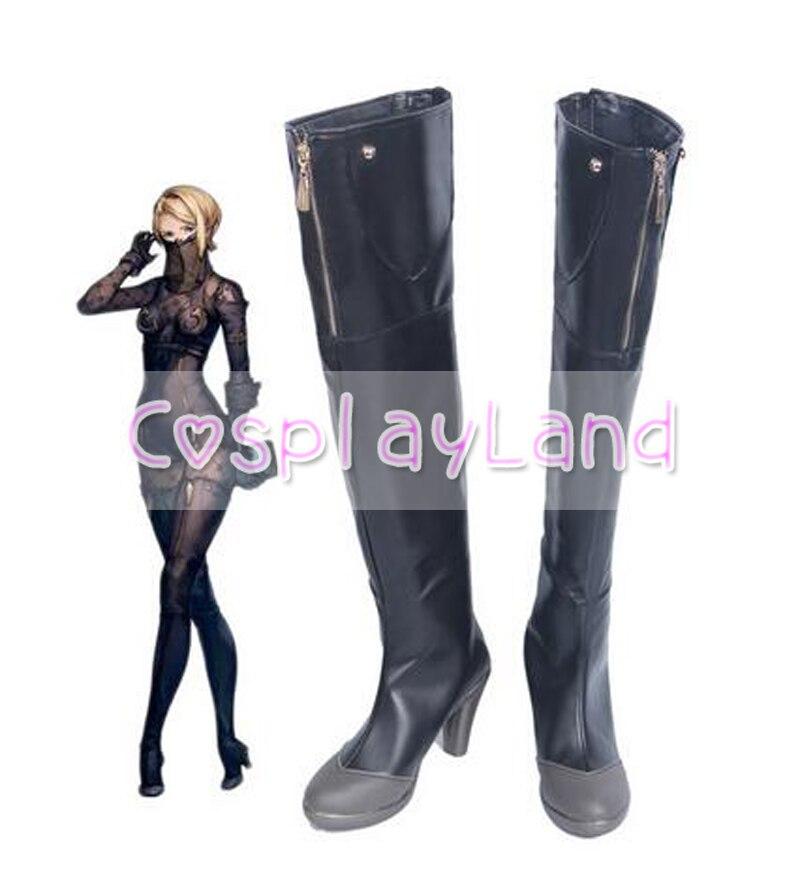 Nier Automata-أحذية تأثيري 60 للبالغين والنساء ، أحذية طويلة مخصصة لحفلات الهالوين ، تأثيري