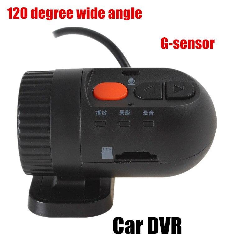 Calidad General 120 grados gran angular Bullet HD grabadora de vídeo de coche Mini bullet Car DVR videocámara gran oferta y alta calidad