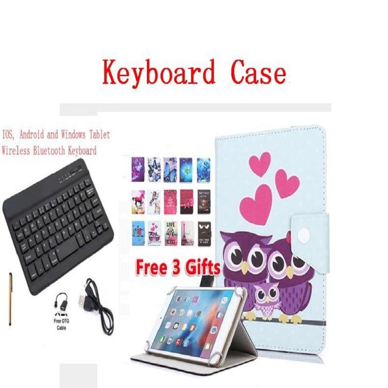 Funda para Huawei MediaPad T3 10 AGS-L09 AGS-L03, teclado UNIVERSAL de 9,6 pulgadas carcasa de teclado Bluetooth inalámbrico + bolígrafo + OTG + USB