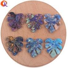 Design Cordial 25*29mm 100 pièces fabrication de bijoux/boucles doreilles connecteurs/forme de feuille/accessoires de bricolage/fait à la main/composants de bijoux