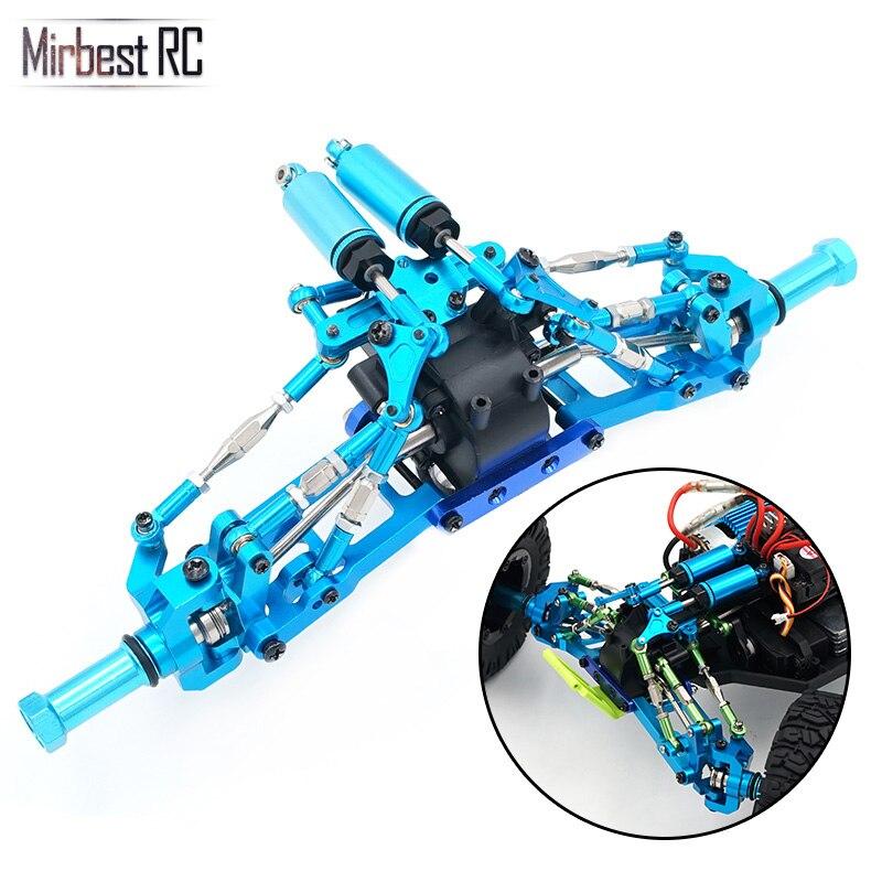 Mirbest RC piezas de DIY para Wltoys 12428 piezas 12423 coche RC piezas de Metal actualización accesorios de Metal gear onda caja de absorción de choque