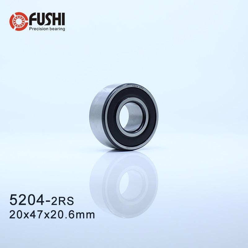 5204 2RS teniendo 20x47x20,6mm (1 PC) contacto Angular de doble fila Axial 5204RS 3204 2RS 3056204 rodamientos de bolas