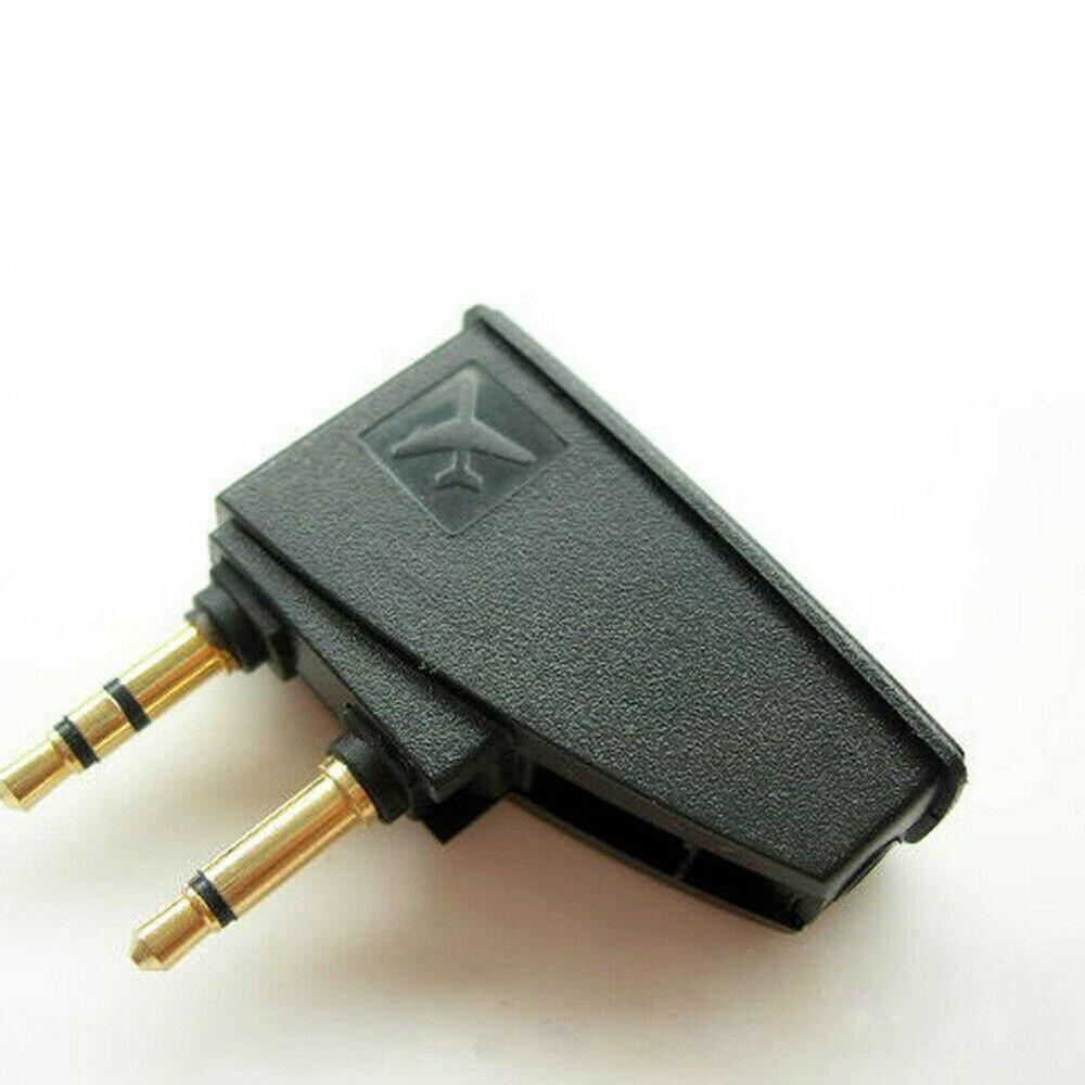 1 шт. аудио адаптер самолета для QC35 QC25 QC20 QC15 QC3 QC2 наушники пластик для путешествий CE1448