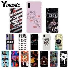 Yinuoda 5sos band youngblood 5 초 여름 tpu 전화 케이스 커버 쉘 iphone 5 5sx 6 7 7plus 8 8 plus x xs max xr