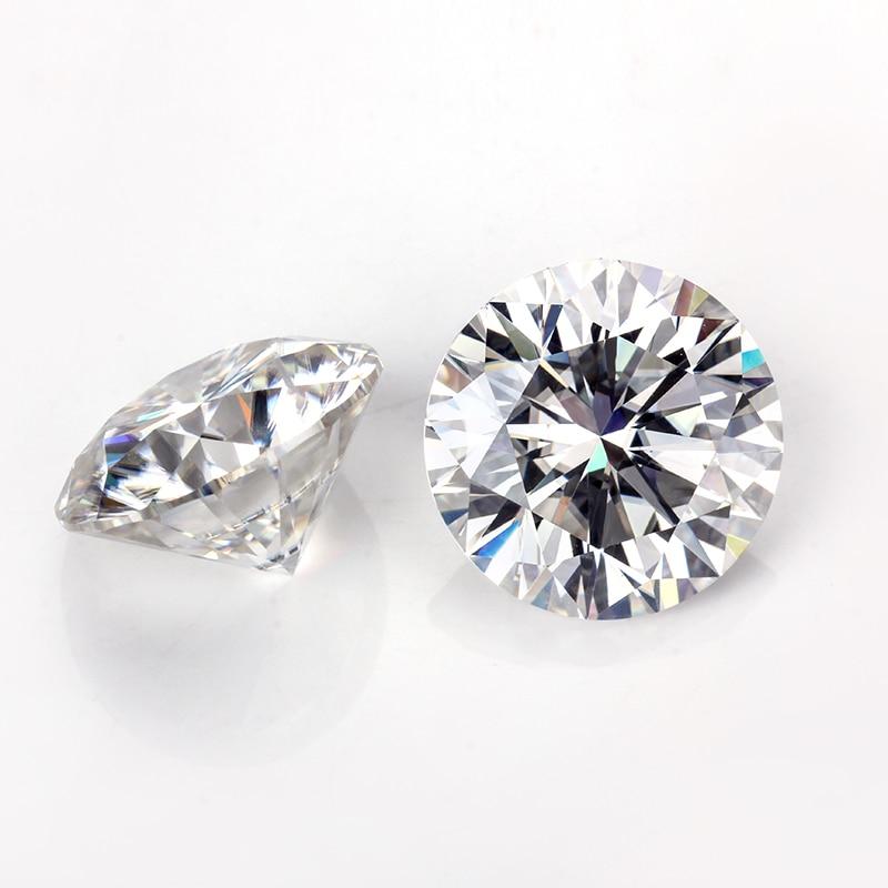 Pass a diamondts tester 6 quilates color GH 12mm brillante redondo corte moissanita piedras preciosas sueltas para la fabricación de joyas