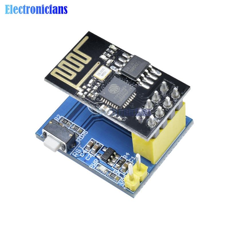 Esp8266 ESP-01 esp01 ds18b20 módulo sensor de umidade temperatura esp8266 wi fi sem fio nodemcu placa adaptador para arduino iot