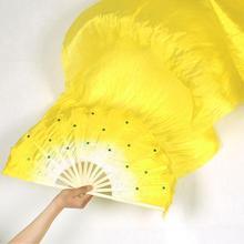 Hand Made Kleurrijke Belly Dance Dancing Silk Bamboo Lange Fans Veils