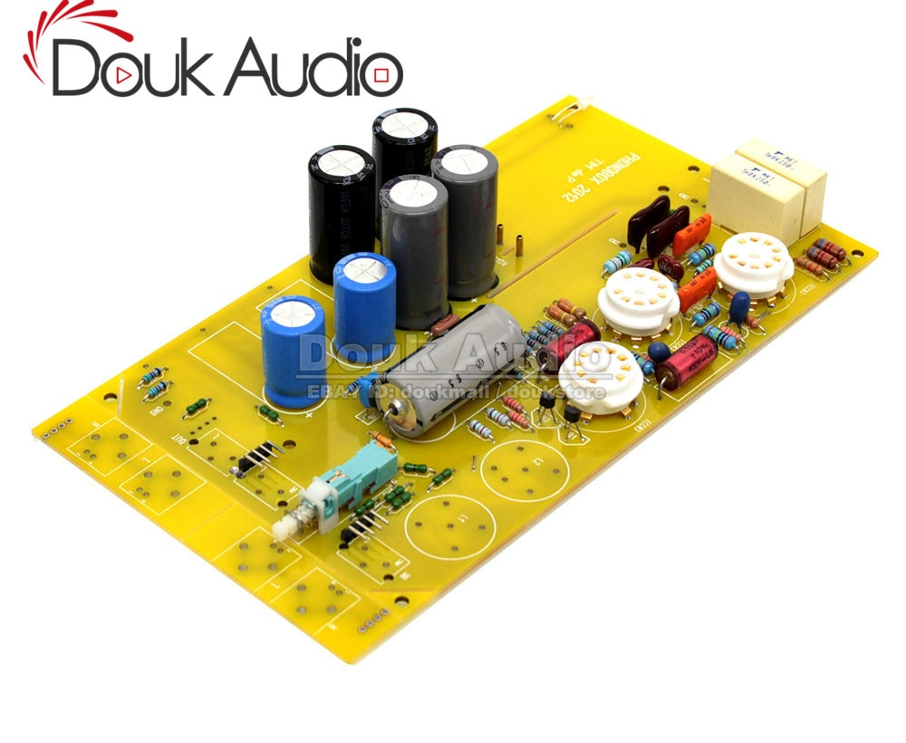 Douk Audio HiFi MM Phono preamplificador tubo de vinilo PHONOBOX TIM deP tablero preamplificador de válvula