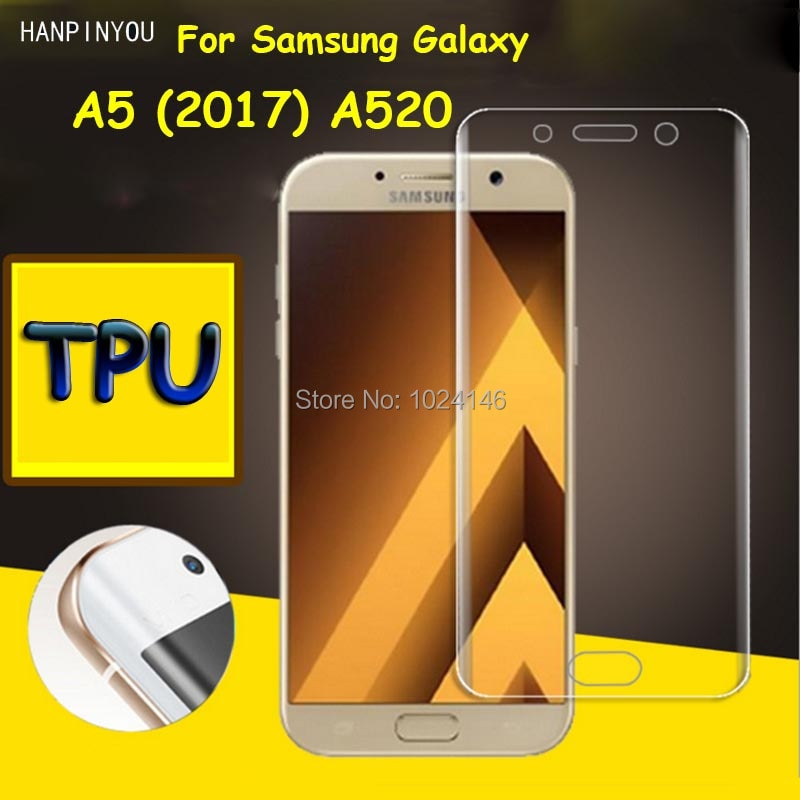 Full Coverage Clear Soft TPU Film Screen Protector For Samsung Galaxy A5 (2017) A520 , Cover Curved
