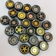 4 pièces/lot 164 modèle modifié pneus Diecasts alliage roue pneu caoutchouc jouet véhicules modèle général des accessoires de changement de voiture
