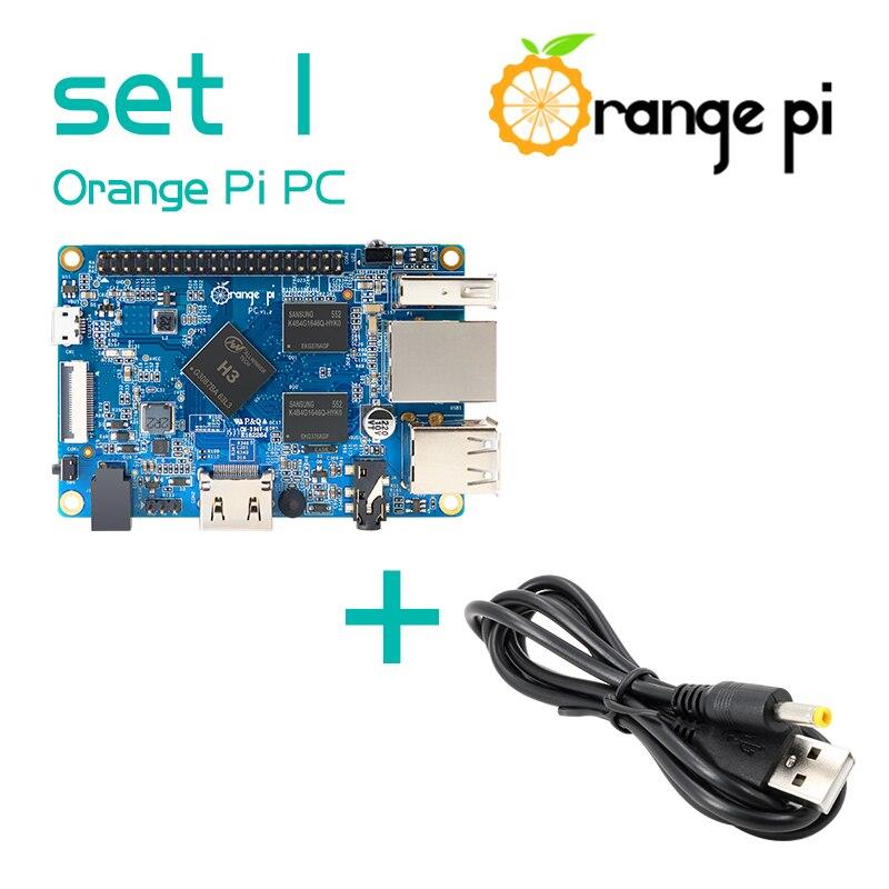 Orange Pi PC SET1: Orange Pi PC + USB a DC 4,0 MM-1,7 MM Cable de alimentación compatibles con Android Ubuntu Debian