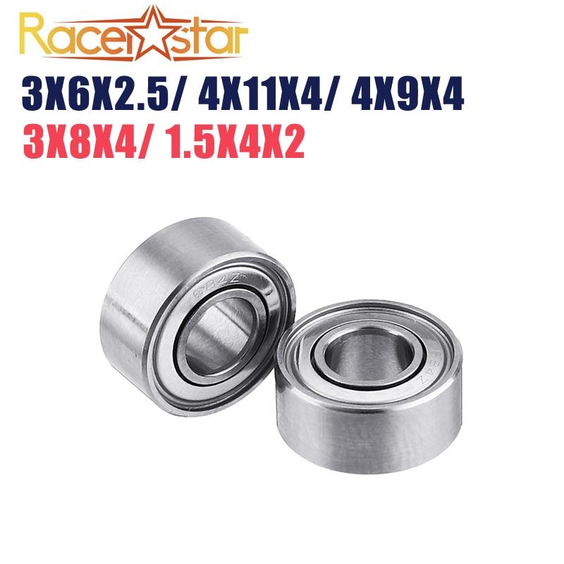 2 uds Racerstar EZO 3x8x4mm 1,5x4x2mm 3x6x2,5mm 4x11x4mm cojinete para 2205, 2306, 1105, 2508, 3508 RC sin escobillas del Motor ACCESORIOS de bricolaje