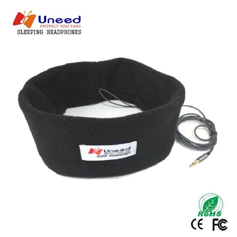 Uneed-auriculares estéreo con cable, cascos para dormir para escuchar música, máscara ocular,...