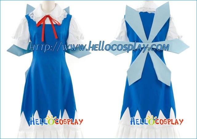 Touhou Project Cosplay Cirno vestido H008