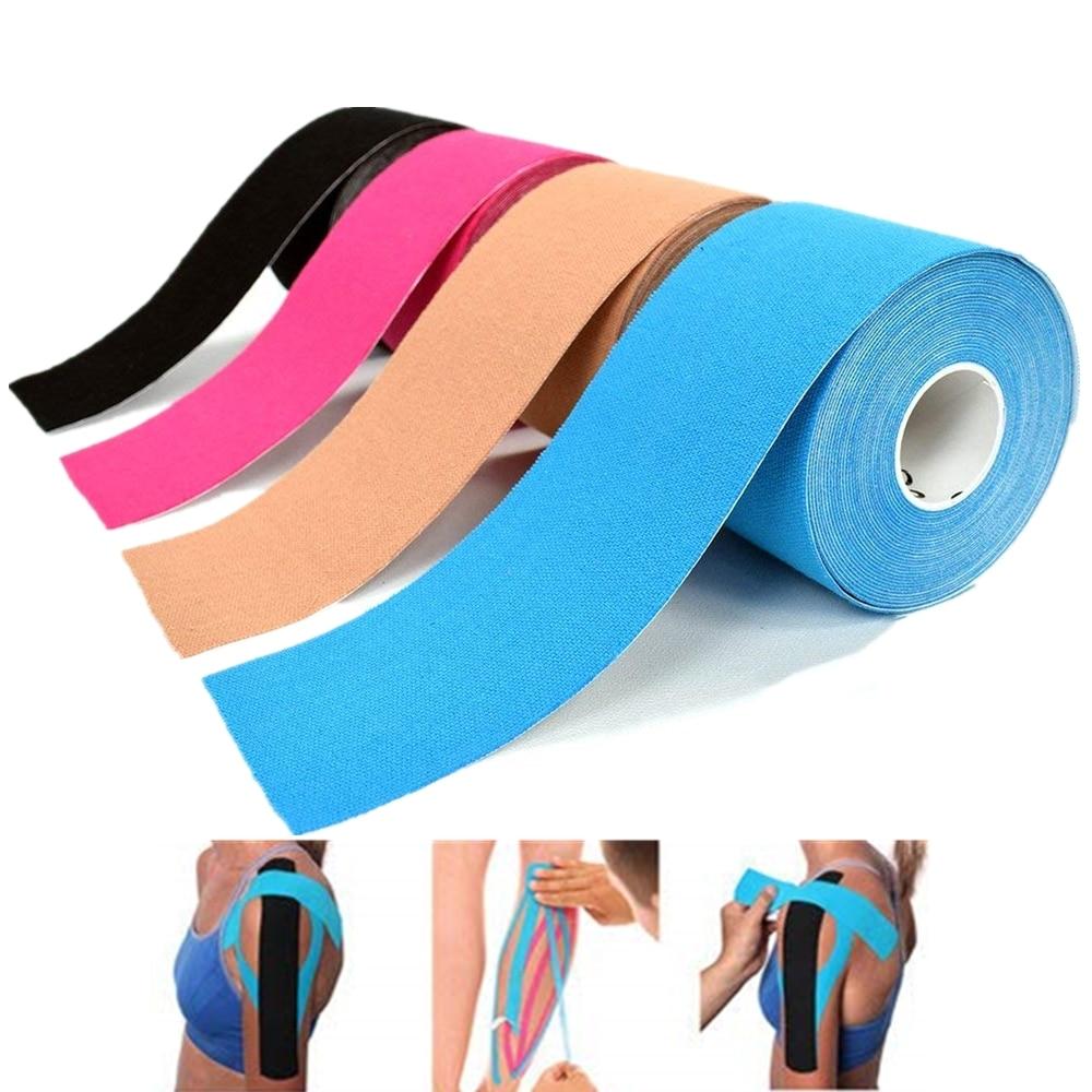 شريط رياضي قطني مرن ، واقي للركبة ، واقي الكوع ، لاستعادة العضلات ، مقاوم للماء ، مسامي ، 20 عبوة