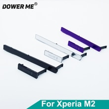 Dower Mich USB Lade Port + Sim Karte + Micro SD Jack Port Slot Abdeckung für Sony Xperia M2 S50H dual D2303 D2305