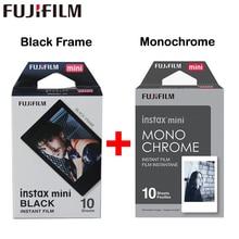 2017 Echt Fujifilm Fuji Instax Mini Film Monochrome Mono + Zwart Frame Film voor Mini 8 70 8 Plus 90 25 Camera SP-1 SP-2 Plus