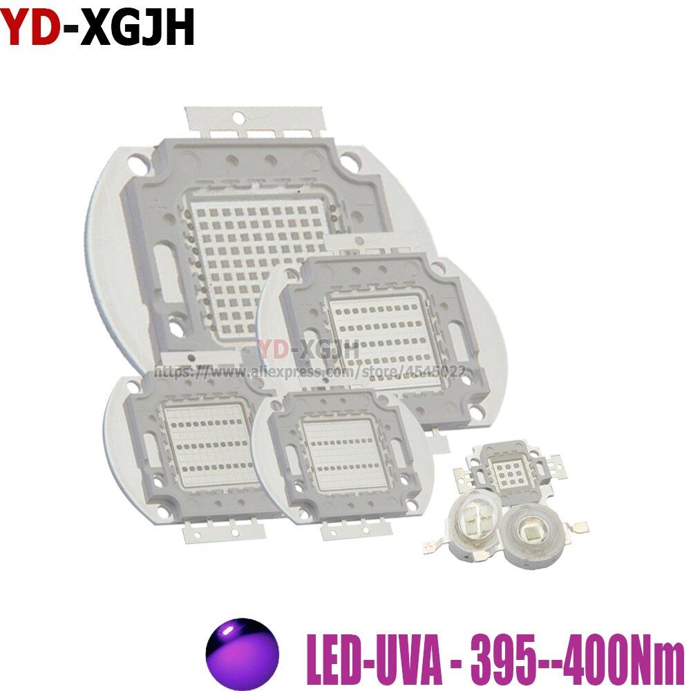 Luz de alta potência uv roxo led 3 w 5 10 20 30 50 100 para 395nm uva uvb contas de iluminação 1 3 5 10 20 30 50 100 watts matriz 3d