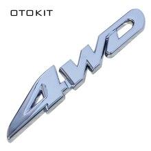 Car Styling Autoadesivo 3D In Metallo Cromato 4WD Distintivo Dellemblema Della Decalcomania Per SUV Baule posteriore Off-road Toyota Highlander RAV4 Tiguan Honda
