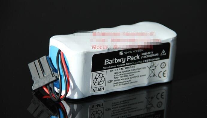 1PCS Original NEW NKB-301V 12V 2800mAh FOR TEC7621 TEC7631 defibrillator battery Free Shipping