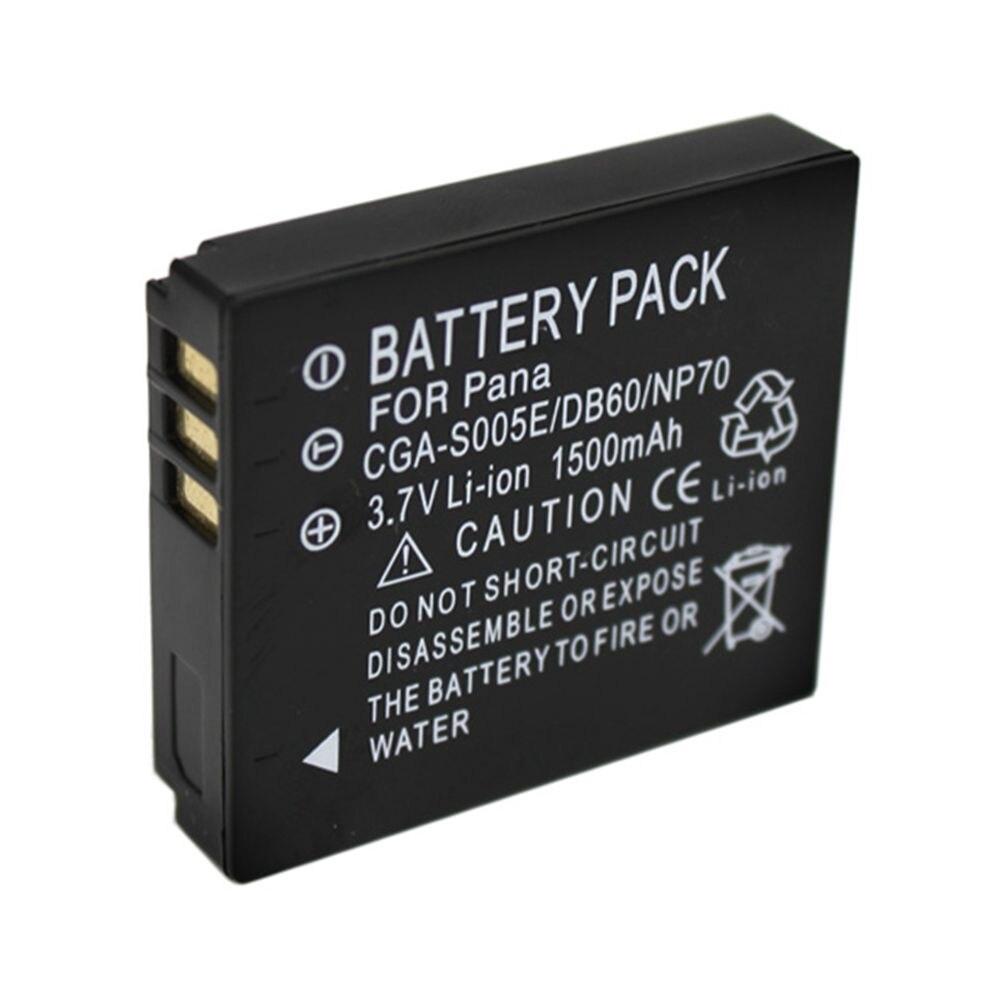 Аккумулятор для камеры WHCYonline, 1500 мАч, DMW-BCC12, CGA-S005E, BCC12, S005E, DB60, NP70, для Panasonic Lumix, CGA-S005, LX1, LX2, LX3