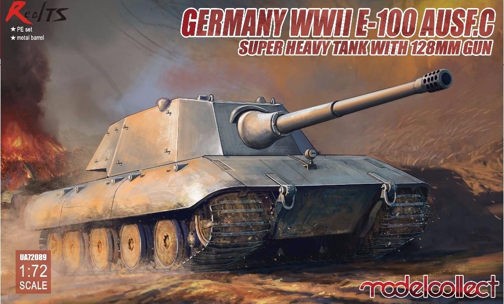 RealTS Modelcollect UA72089 1/72 Alemania WWII E-100 tanque pesado Ausf. C con 128