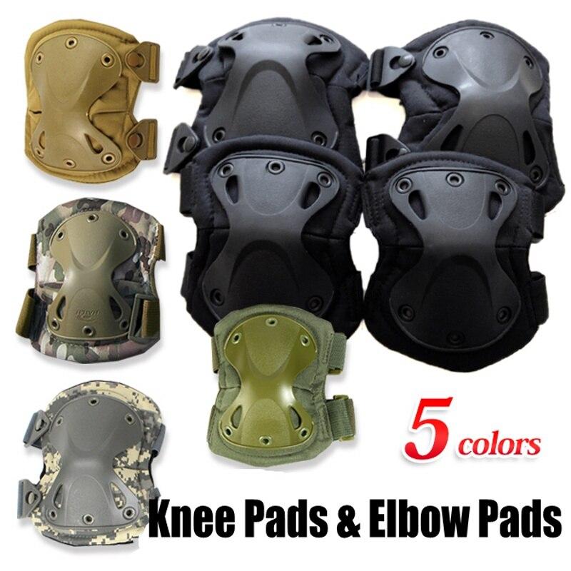 Abay, rodilleras tácticas militares para codos, soporte de codo, Protector de rodilla para deportes al aire libre, rodilleras para caza, conjunto de coderas