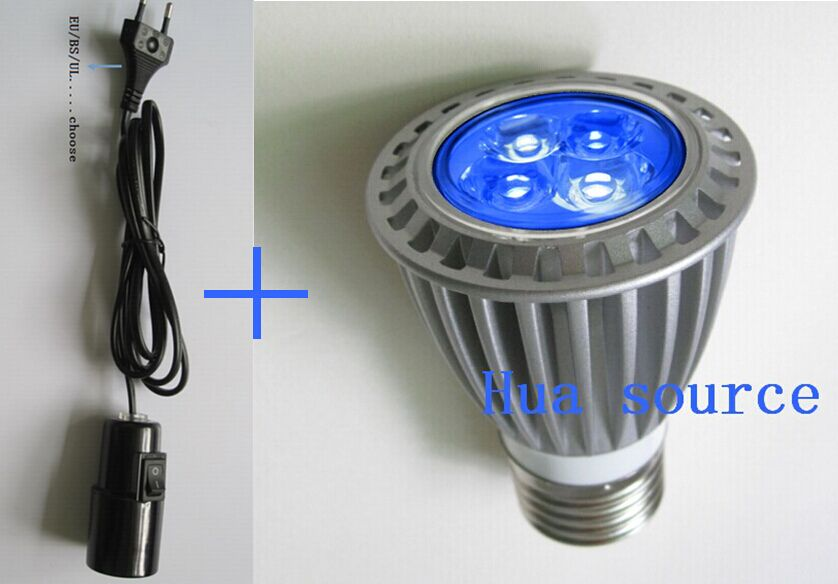Portalámparas E27 + E27 4x3w, lámpara LED de espectro completo para acuario, lámpara de Cultivo LED para hidroponia de plantas y flores