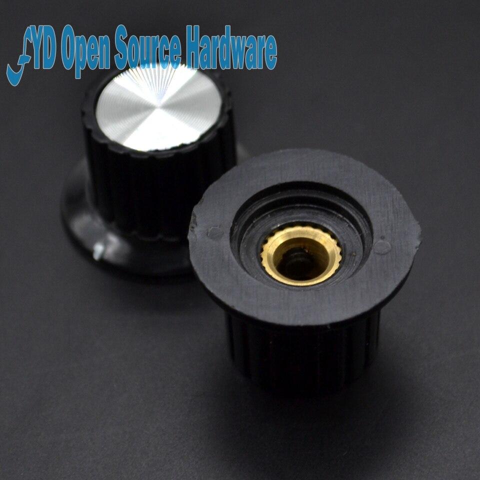 5 pçs KYP25-18-6J abertura 6mm cinza potenciômetro botão baquelite