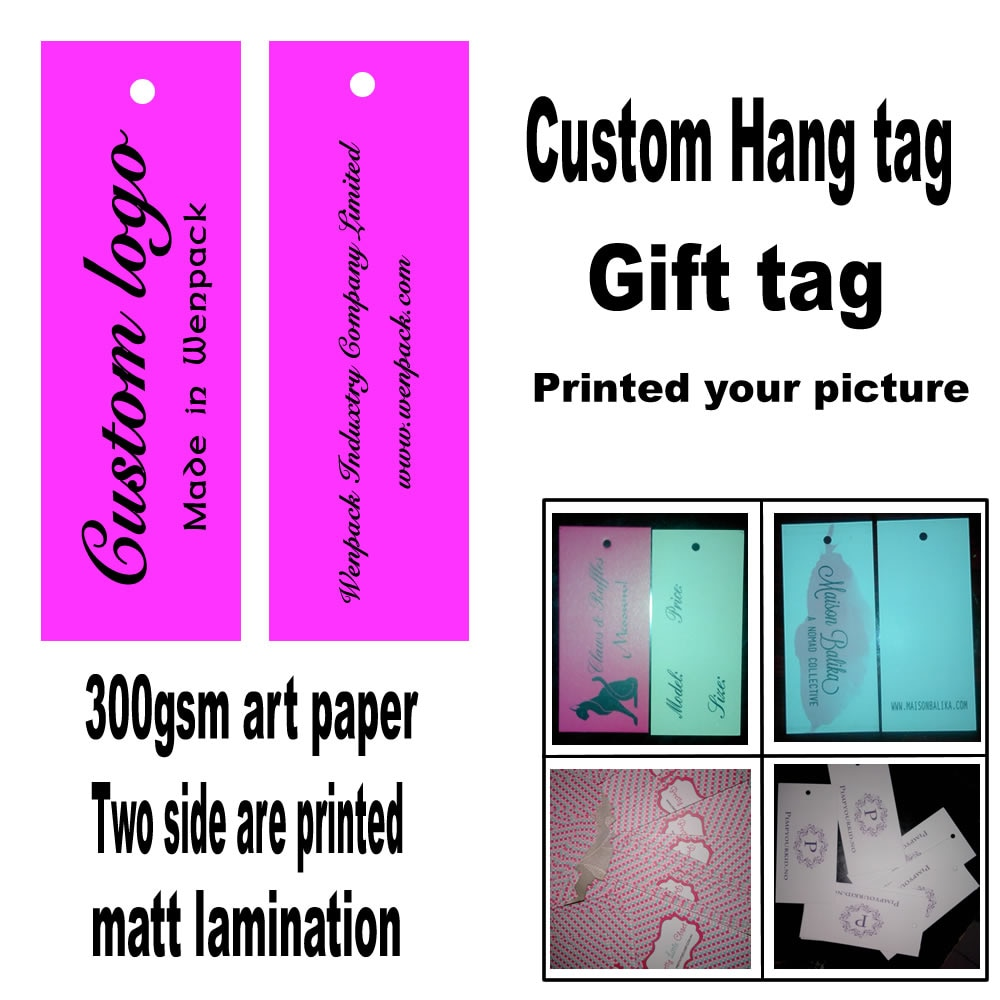 Custom Printed Clothes Price Paper Gift Swing  Hang Tag