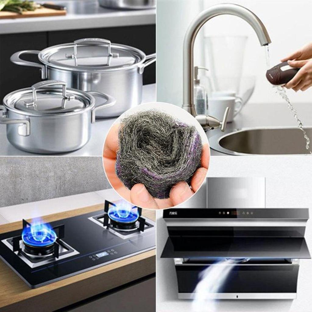 Herramienta de limpieza de Super detergente para cocina, malla de Metal, cepillo desengrasante, cepillo de descontaminación, limpiador mágico, estropajo de lana de acero G719