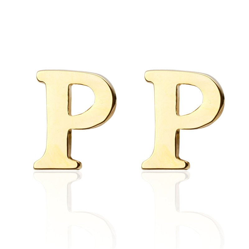 Новый Алфавит P буквы модные ювелирные запонки трендовые золотые Модные мужские кнопки запонки оптом