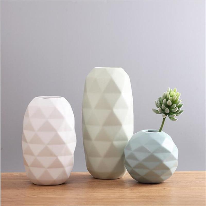 Scandinavian minimalist modern desktop flower arranging simple fashion art geometric vase decoration Decoration home decoration