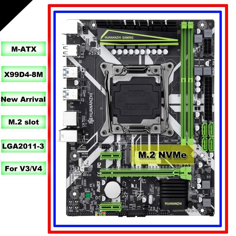 Placa base HUANANZHI M ATX X99 para todos los procesadores de LGA2011-3 como 2680 V4/V3 M.2 NVMe slot 2 * DDR4 4 * USB3.0 4 * puertos SATA3.0
