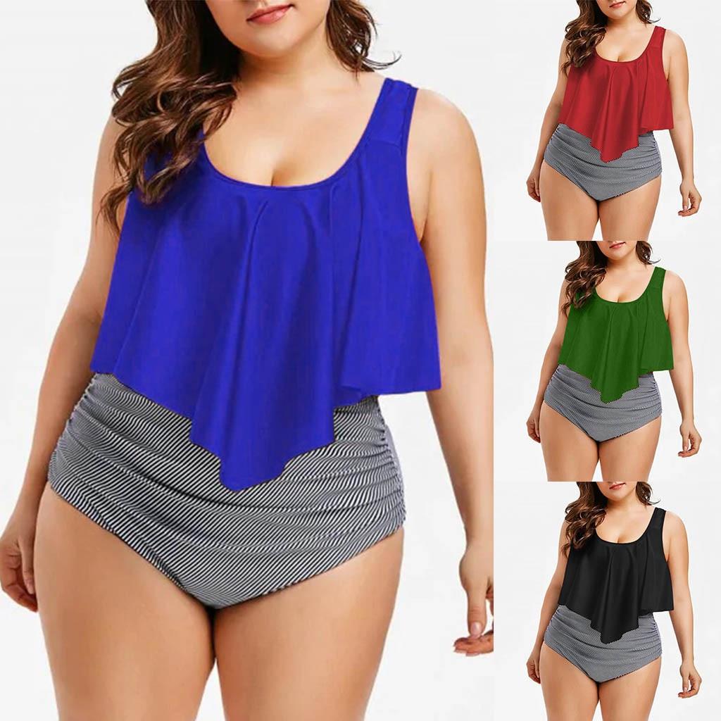 Maiô feminino plus size, uma peça, liso, monokini, maiô de mulher, preto, azul