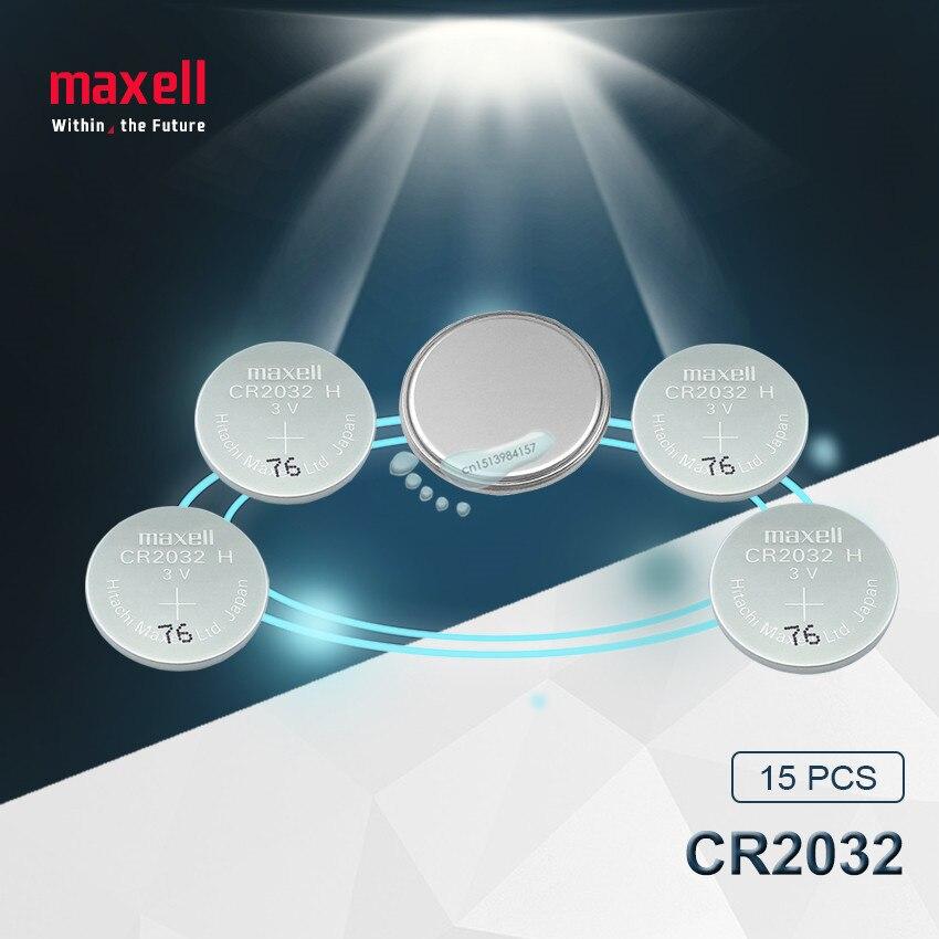 15 шт., оригинальный бренд maxell, Новая батарея cr2032, 3 в, батарейки для монет, для часов, компьютерная игрушка, пульт дистанционного управления cr ...