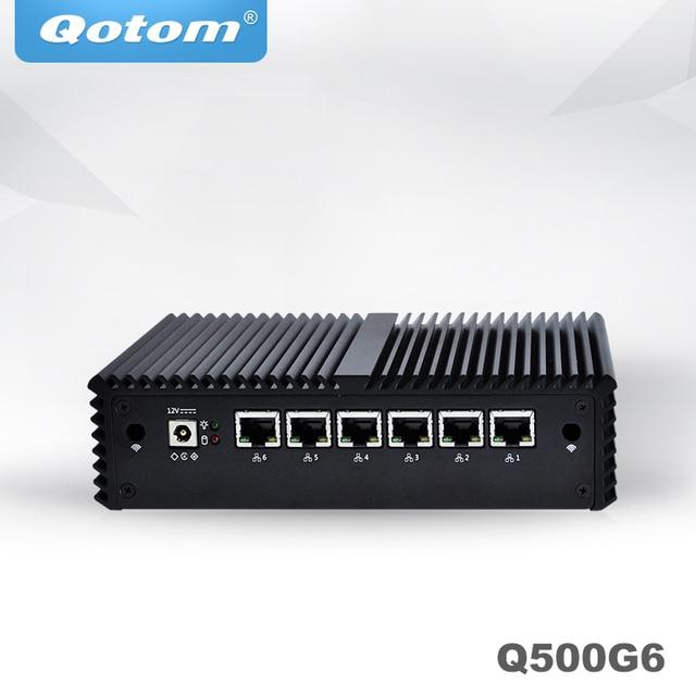 QOTOM Mini PC Core i3 i5 i7 Fanless VPN Computer 6 Gigabit Ethernet AES-NI OPNsense Firewall Ubuntu Sophos Q555G6 Q575G6 2