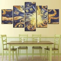 canvas wall art painting hd pictures printed poster home decoration 5 panel abstraction living room modular cuadros unframed