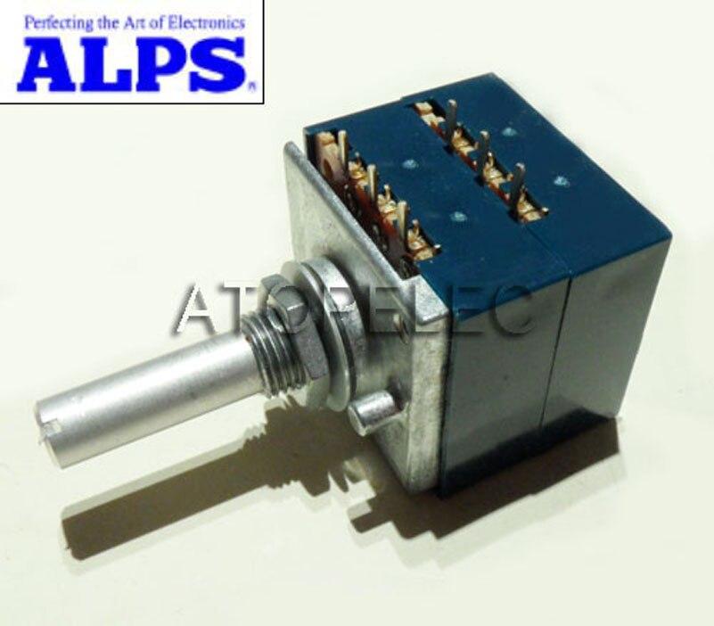 1 шт. японский ALPS RK27 громкоговоритель, стерео потенциометр 2-gang Dual 10K/20K/50K/100K/250K/500K шлицевой вал