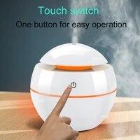 Diffuseur dhuiles essentielles et darome  mini humidificateur ultrasonique  purificateur dair  veilleuse LED a 7 couleurs changeantes  USB  pour le bureau et la maison  130ml