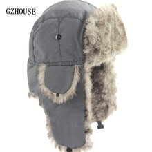 Winter Hat Keep Warm Unisex Winter Trapper Aviator Trooper Earflap 2019 Russian Ski Hat Fur Bomber F