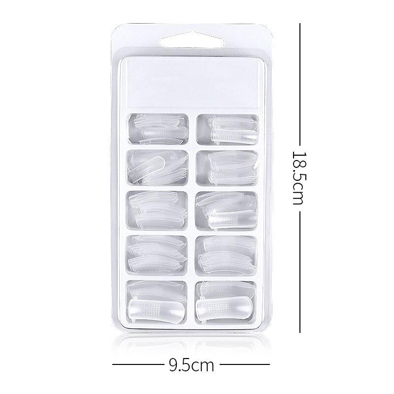 1 caixa de extensão do prego reutilizável modelo transparente rápido alongar molde do prego para manicure 669