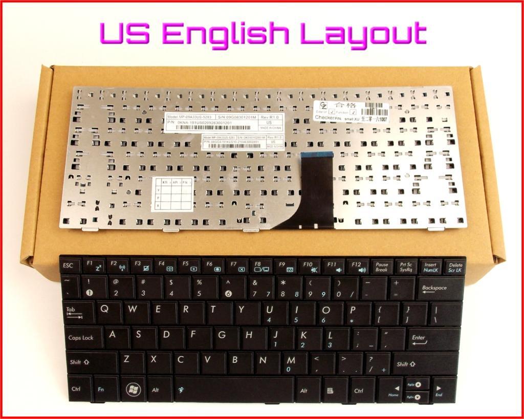 Novo Teclado EUA Inglês Versão para ASUS EPC 1005HA EEE 1005HAB 1005HA-B 1008HA 1001HA Laptop