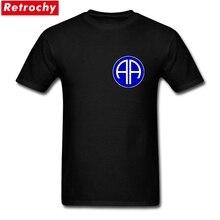 US Army 82nd Division aéroportée Logo t-shirts hommes coton respirant élastique à manches courtes T-Shirts hauts pour les hommes