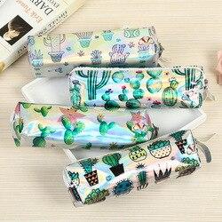 1 pcs Cactus caixa de Lápis Caixa de artigos de Papelaria Da Novidade Dos Desenhos Animados Imagens Caso Caneta Lápis Bolsa de Alta Capacidade Saco Bonito Coreano Material Escolar