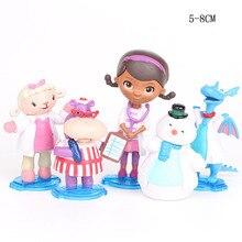 5 pièces/ensemble clinique Doc mc peluche Doc Girl Lambie agneau Dragon bonhomme de neige figurine daction hippopotame modèle jouets pour enfants cadeau danniversaire
