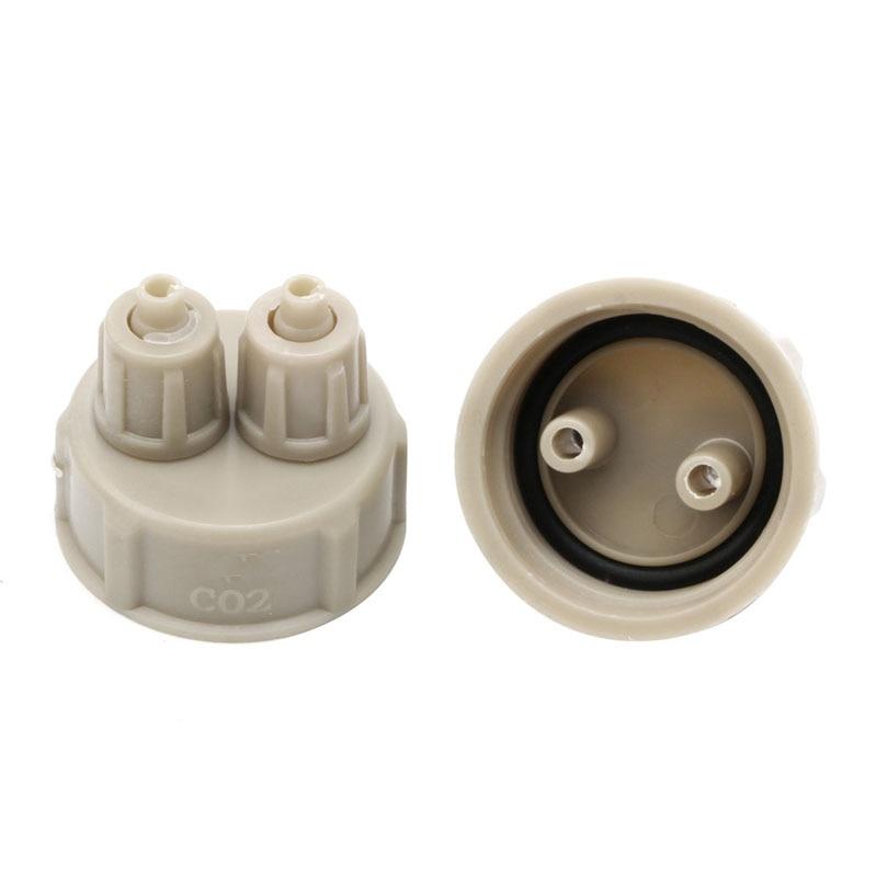 Accesorios de CO2 para acuario, Kits de sistema de CO2 DIY, tapa de botella de parte del generador-Y102 1 unidad