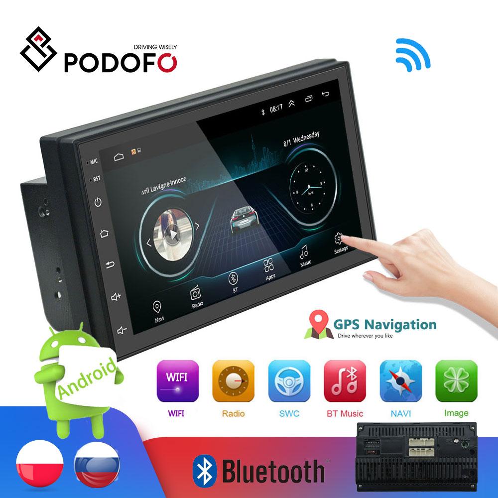 "aliexpress.com - Podofo 2din Car Radio Android multimedia player Autoradio 2 Din 7"" Touch screen GPS WIFI Bluetooth FM auto audio player stereo"